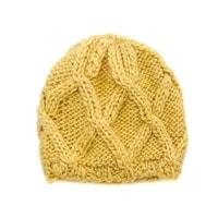 Zimní dámská čepice žlutá