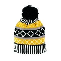 Žlutá čepice se vzorem