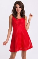 Dámské letní červené šaty