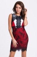 Červené trendy dámské šaty