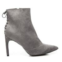 Dámské šedé kotníkové boty