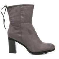 Vysoké šedé boty s vázáním