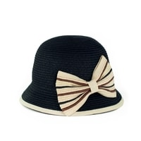 Dámský černý klobouk s mašlí