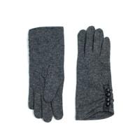 Elegantní šedé rukavice s knoflíky