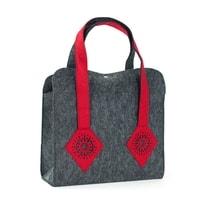 Filcová módní kabelka