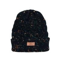Černá zimní čepice s melírem