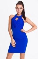 Elegantní jednoduché kobaltové šaty