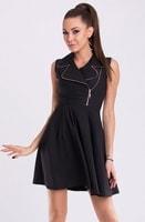 Dámské módní černé šaty