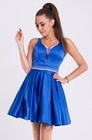 Dámské modré plesové šaty