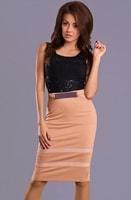 Dámské šaty s krémovou sukní