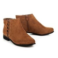 Podzimní semišové hnědé boty