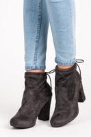 Podzimní boty se stahováním šedé