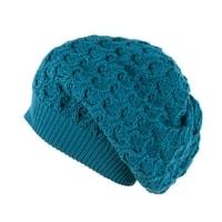 Zimní spadlá čepice modrá