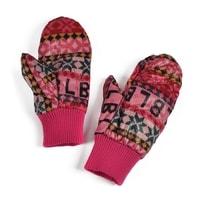 Teplé palčáky s norským vzorem růžové