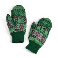 Teplé palčáky s norským vzorem zelené