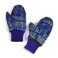 Teplé palčáky s norským vzorem modré