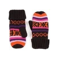 Palcové rukavice Pixel hnědé