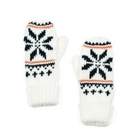 Palcové rukavice s hvězdou bílé