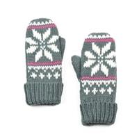 Palcové rukavice s hvězdou šedé