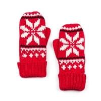 Palcové rukavice s hvězdou červené