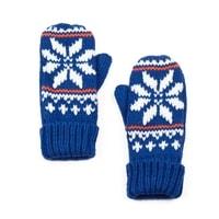 Palcové rukavice s hvězdou modré