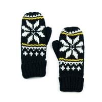 Palcové rukavice s hvězdou černé
