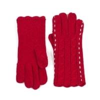 Proplétané rukavice červené