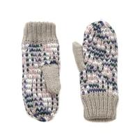 Melanžové palcové rukavice béžové