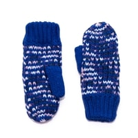 Melanžové palcové rukavice kobaltové