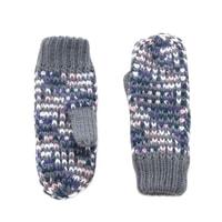 Melanžové palcové rukavice šedé