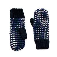Melanžové palcové rukavice modré