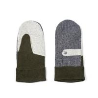 Elegantní palcové rukavice khaki