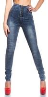 Skinny jeans s vysokým pasem