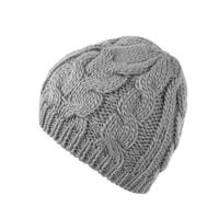 Zimní pletená čepice šedá