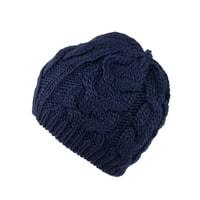 Zimní pletená čepice tmavě modrá