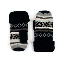 Palcové rukavice Pixel černé