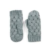 Palcové rukavice proplétané šedé