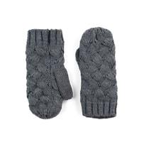 Palcové rukavice proplétané tmavě šedé