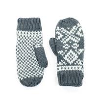 Hezké bílo-šedé palcové rukavice