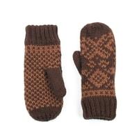 Hezké hnědo-béžové palcové rukavice