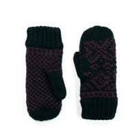 Hezké černo-fialové palcové rukavice