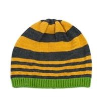 Pruhovaná žlutá čepice