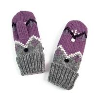 Palcové rukavice se vzorem růžové