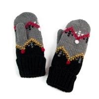 Palcové rukavice se vzorem šedé