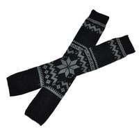 Černé návleky na nohy norský vzor