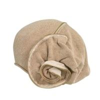 Pletená baretka se zipem béžová