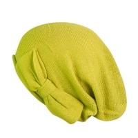 Čepice s mašlí žlutá