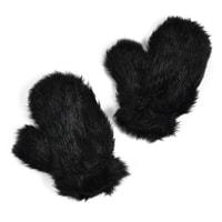 Kožíškové rukavičky černé