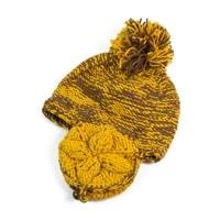 Hořčicová čepice s ušima