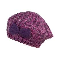 Dámský baret s mašlí fialkový